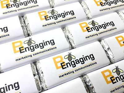features corporate promotional chocolate bars