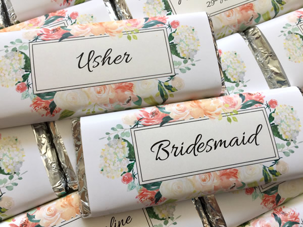 individually personalised place setting bars
